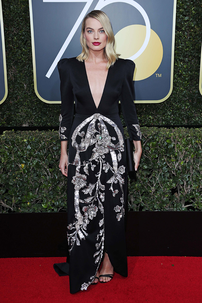 Margot Robbie Gucci Golden Globes 2018