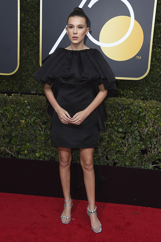Millie Bobby Brown Golden Globes Dress 2018