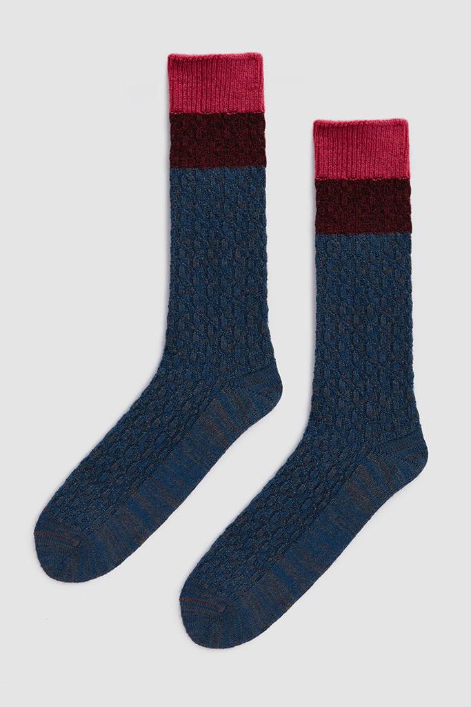 Mr. Gray Melange Houndstooth Socks