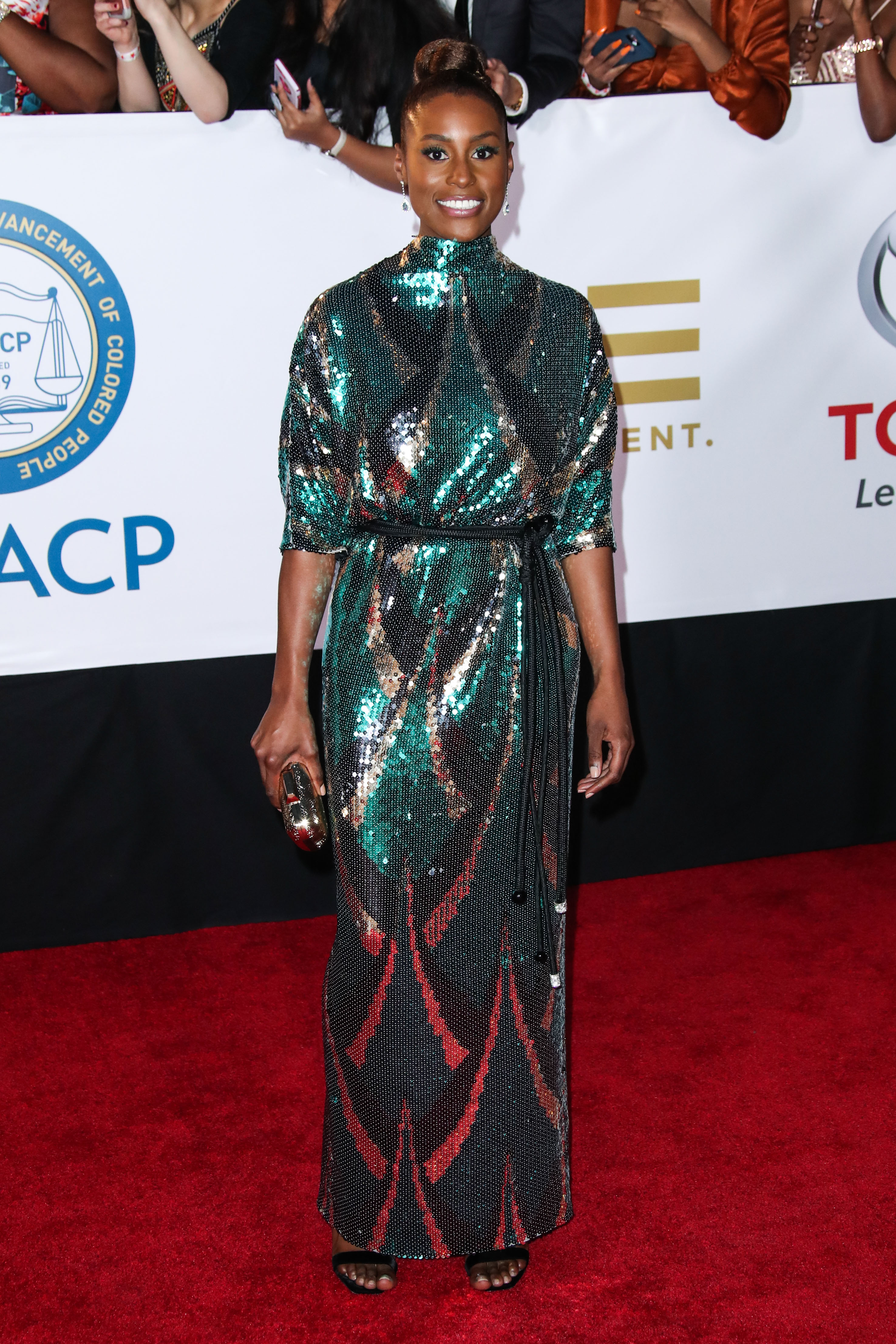 Issa RaeNAACP Image Awards, Arrivals, Los Angeles, USA - 15 Jan 2018WEARING MARC JACOBS SAME OUTFIT AS CATWALK MODEL *9052045de