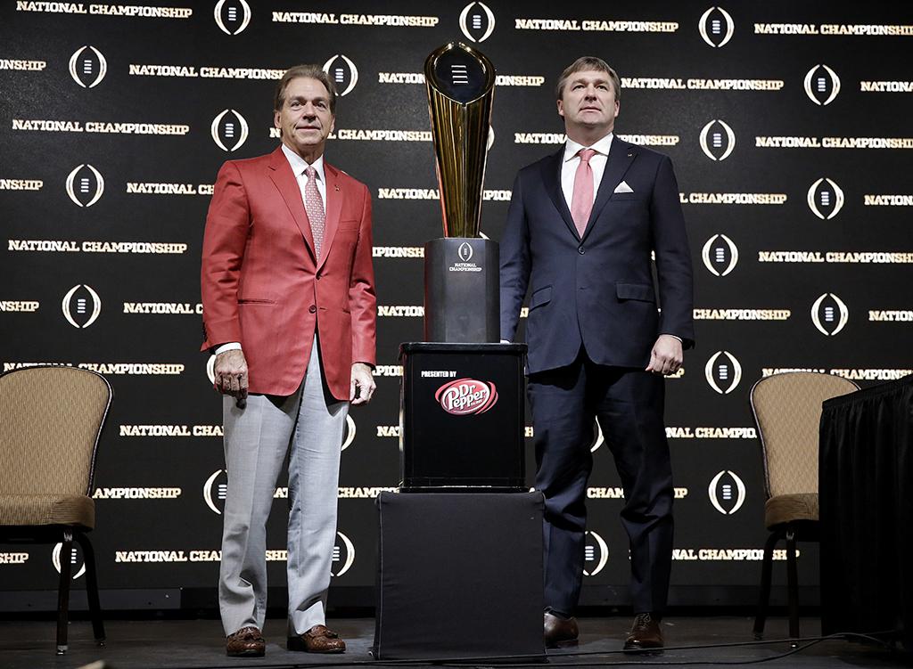 Alabama Georgia Nick Saban Kirby Smart 2018 College Football Championship National Championship