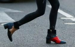 Nina Dobrev, leggings, booties