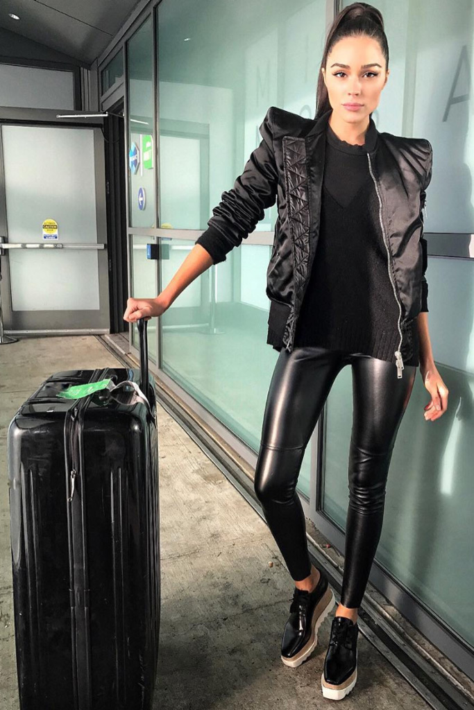 olivia Culpo, shoes, leggings, stella mccartney