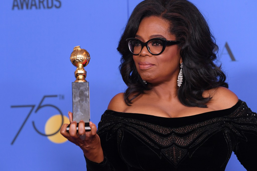 Oprah Winfrey - Cecil B. DeMille Award75th Annual Golden Globe Awards, Press Room, Los Angeles, USA - 07 Jan 2018