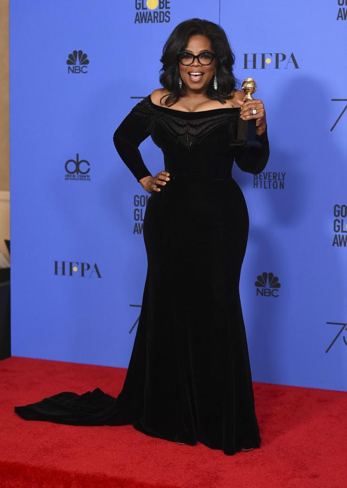 oprah, 2018 golden globes