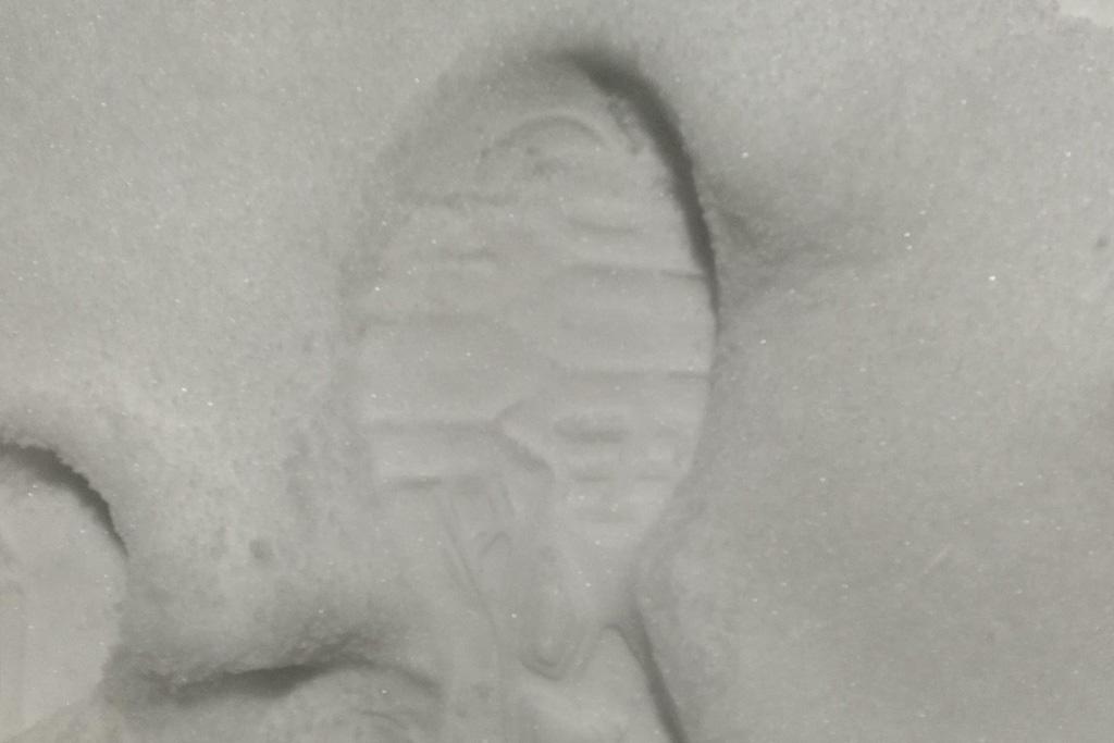 Shoe Footprint in Snow