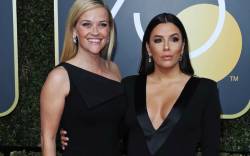 Reese Witherspoon and Eva Longoria, golden