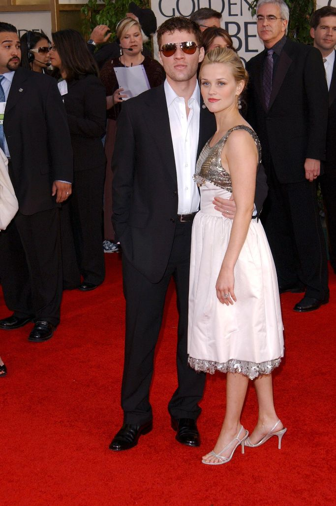 reese witherspoon, Ryan Phillippe, 2006 golden globes, red carpet, chanel