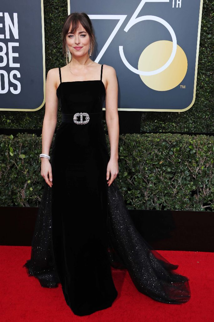 Dakota Johnson Gucci Golden Globes 2018