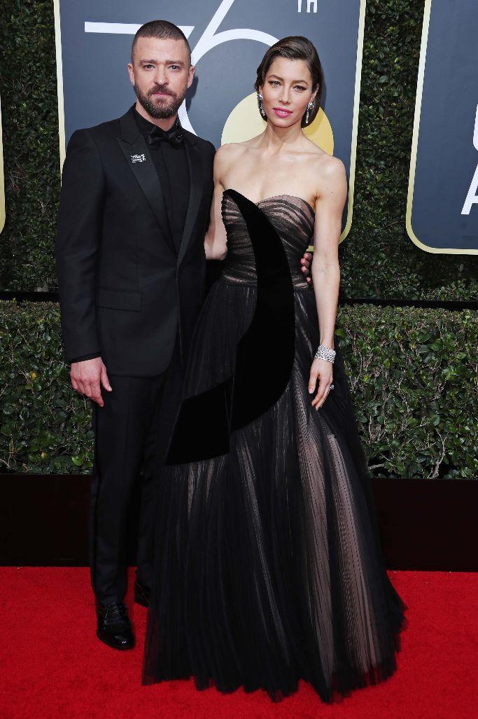 Justin Timberlake and Jessica Biel, golden globes 2018