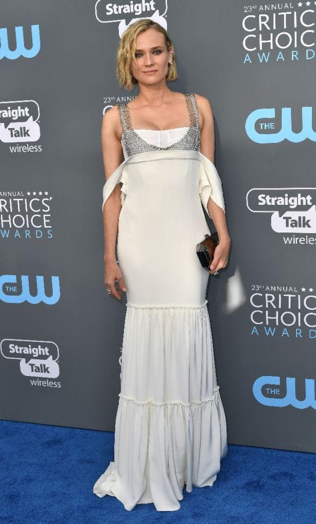 Diane Kruger Vera Wang Critics Choice Awards