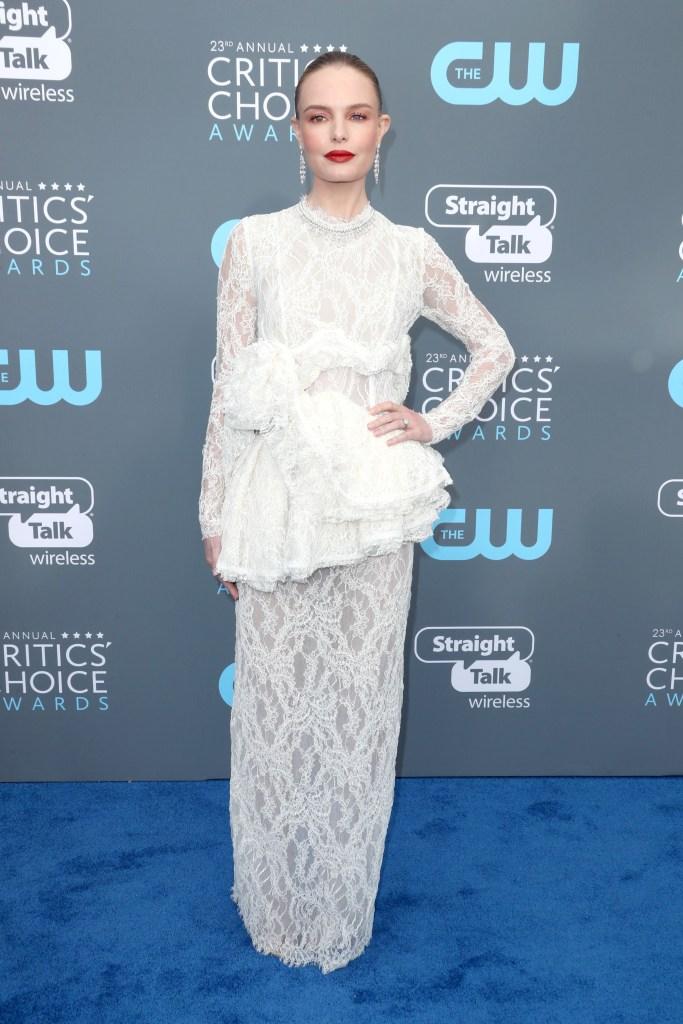 Kate BosworthCritics' Choice Awards, Arrivals, Los Angeles, USA - 11 Jan 2018