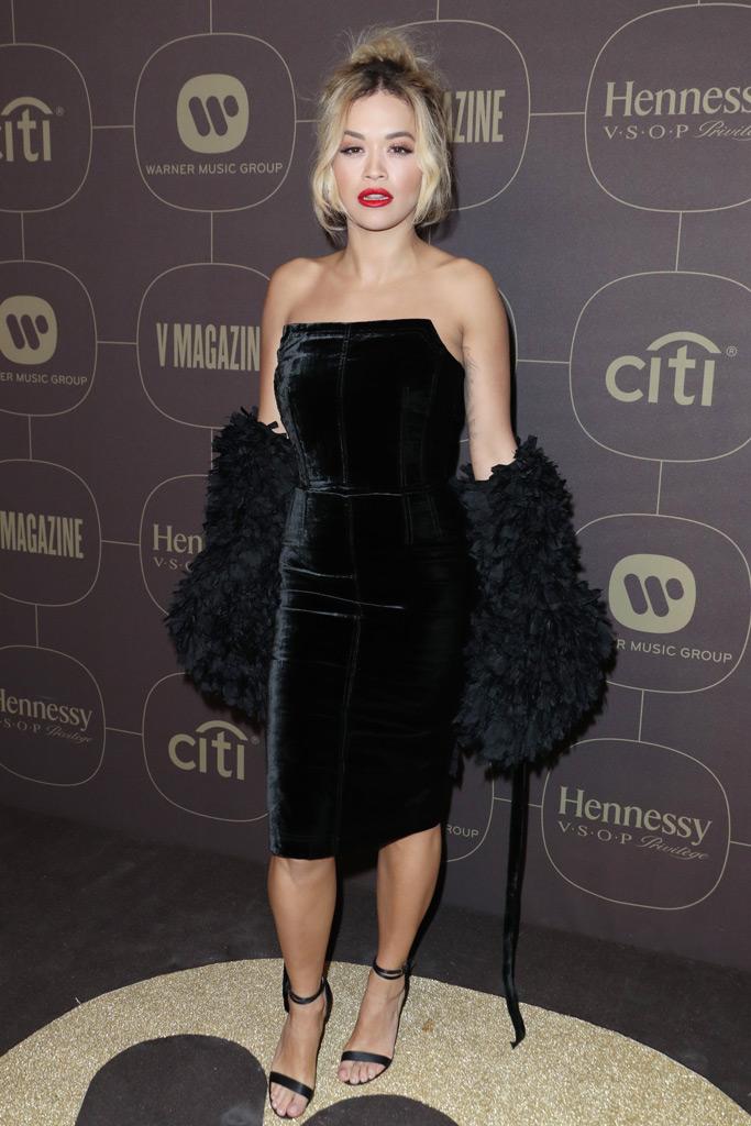 Rita Ora, Warner Music Pre-Grammys Party