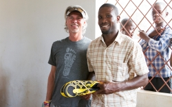 Soles4Souls Buddy Teaster Gives New Shoes