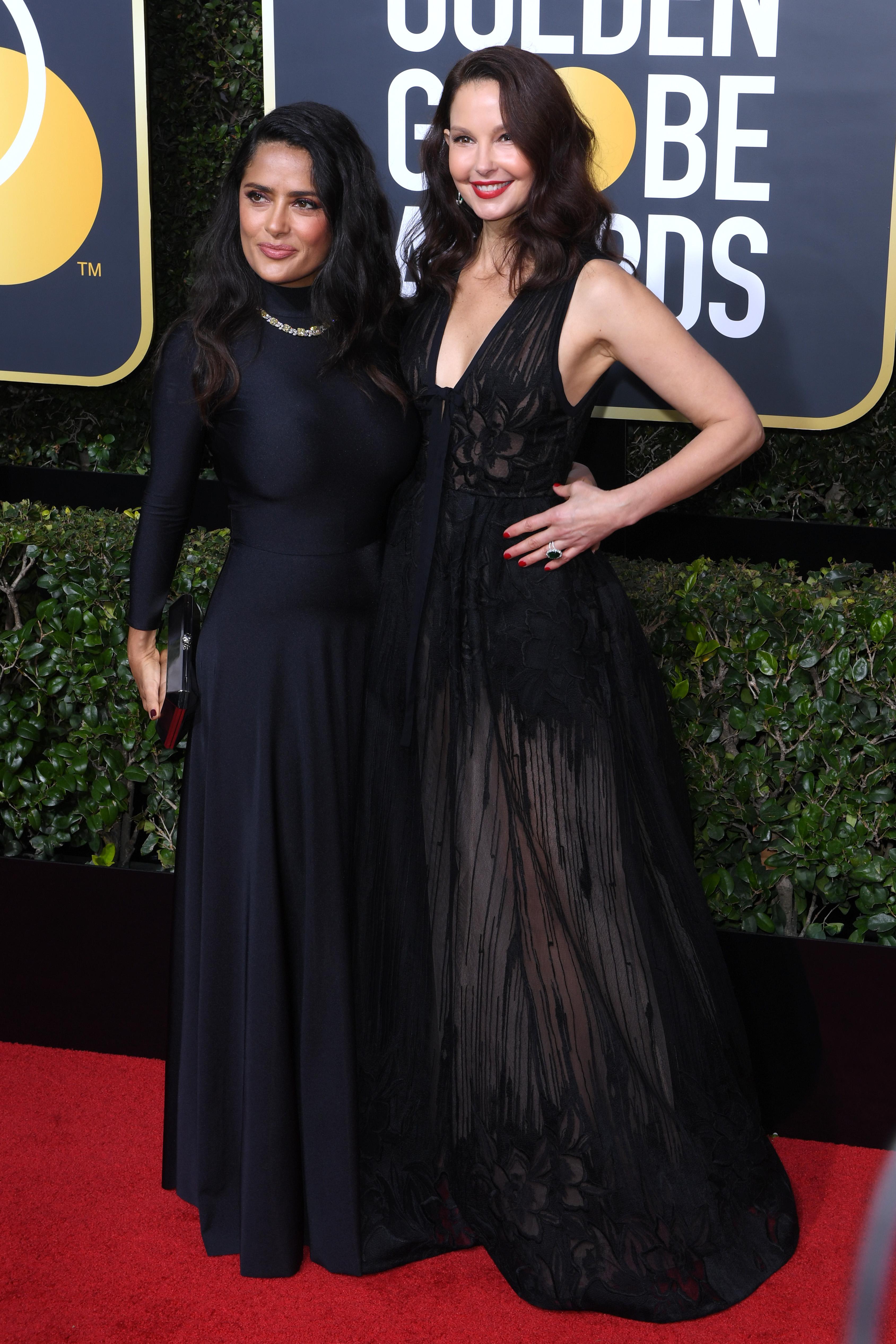 Salma Hayek and Ashley Judd75th Annual Golden Globe Awards, Arrivals, Los Angeles, USA - 07 Jan 2018