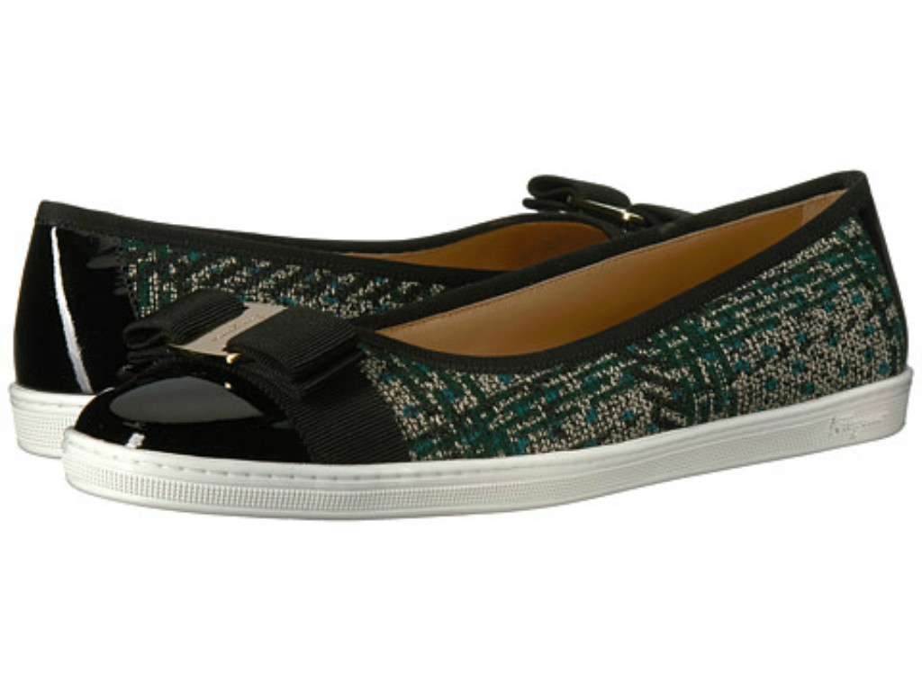 Salvatore Ferragamo Nappa Leather/Tweed Sneaker