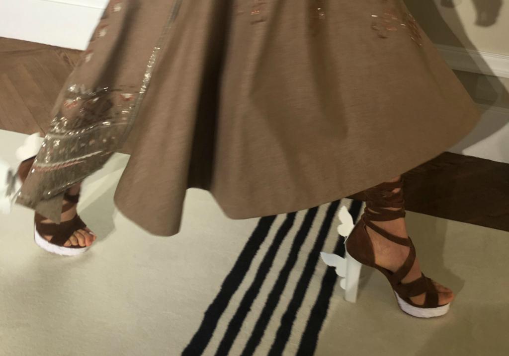 Schiaparelli butterfly sandals, paris haute couture week
