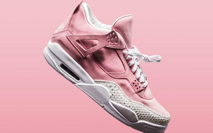 The Shoe Surgeon Air Jordan 4 French Rose White Toe