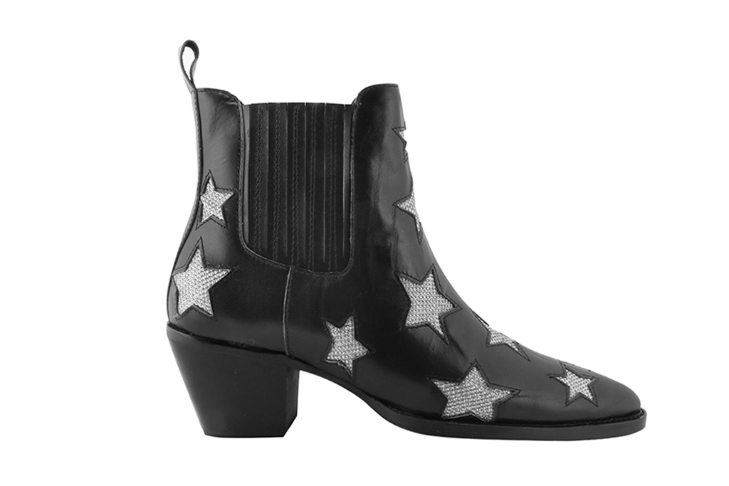 Nalen Star Embellished Leather Ankle Boots