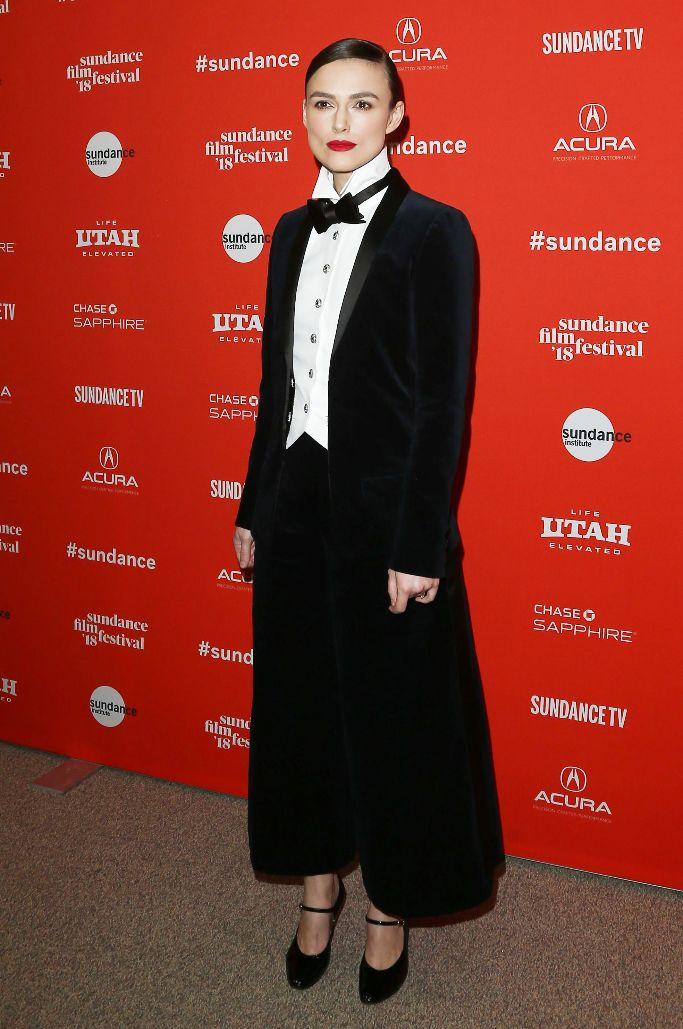 Keira Knightley wearing Chanel, sundance film festival