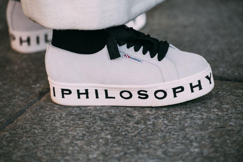 Superga x Philosophy di Lorenzo Serafini sneakers, milan men's fashion week street style