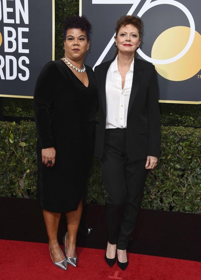 susan sarandon, Rosa Clemente, golden globes 2018