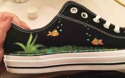 Custom Shoes Painted by Tanner Powell