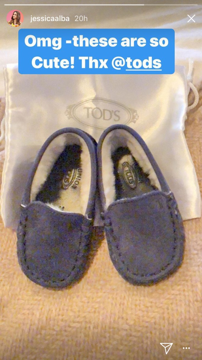 tod's loafers, baby shoes, jessica alba