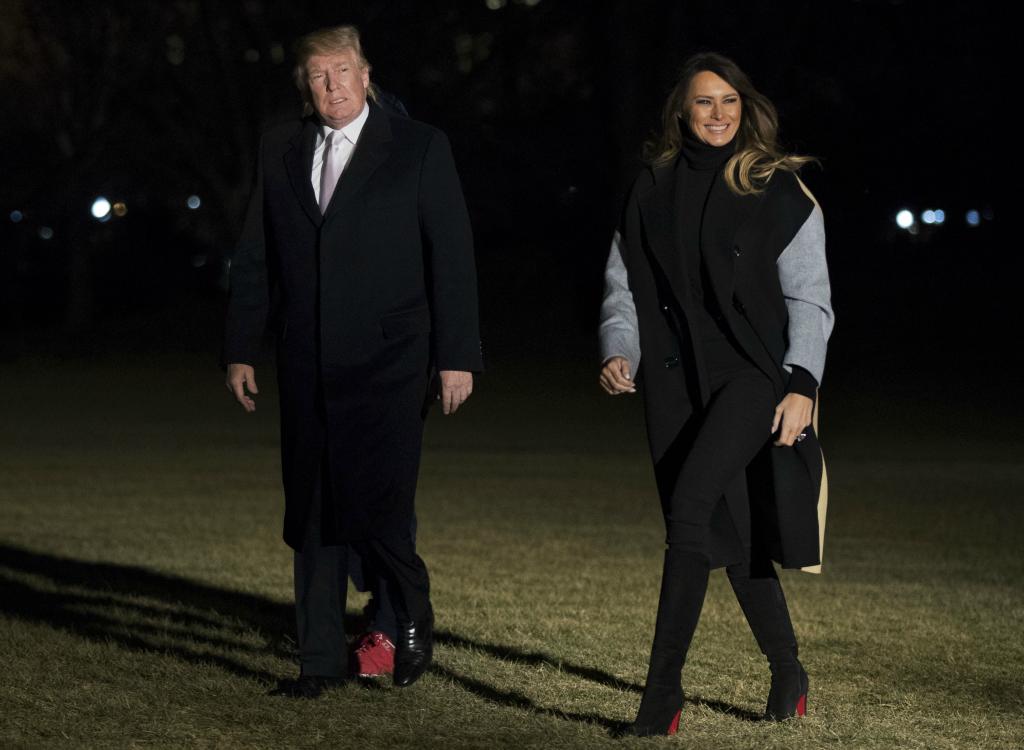 melania trump, christian louboutin boots, donald trump, trumps