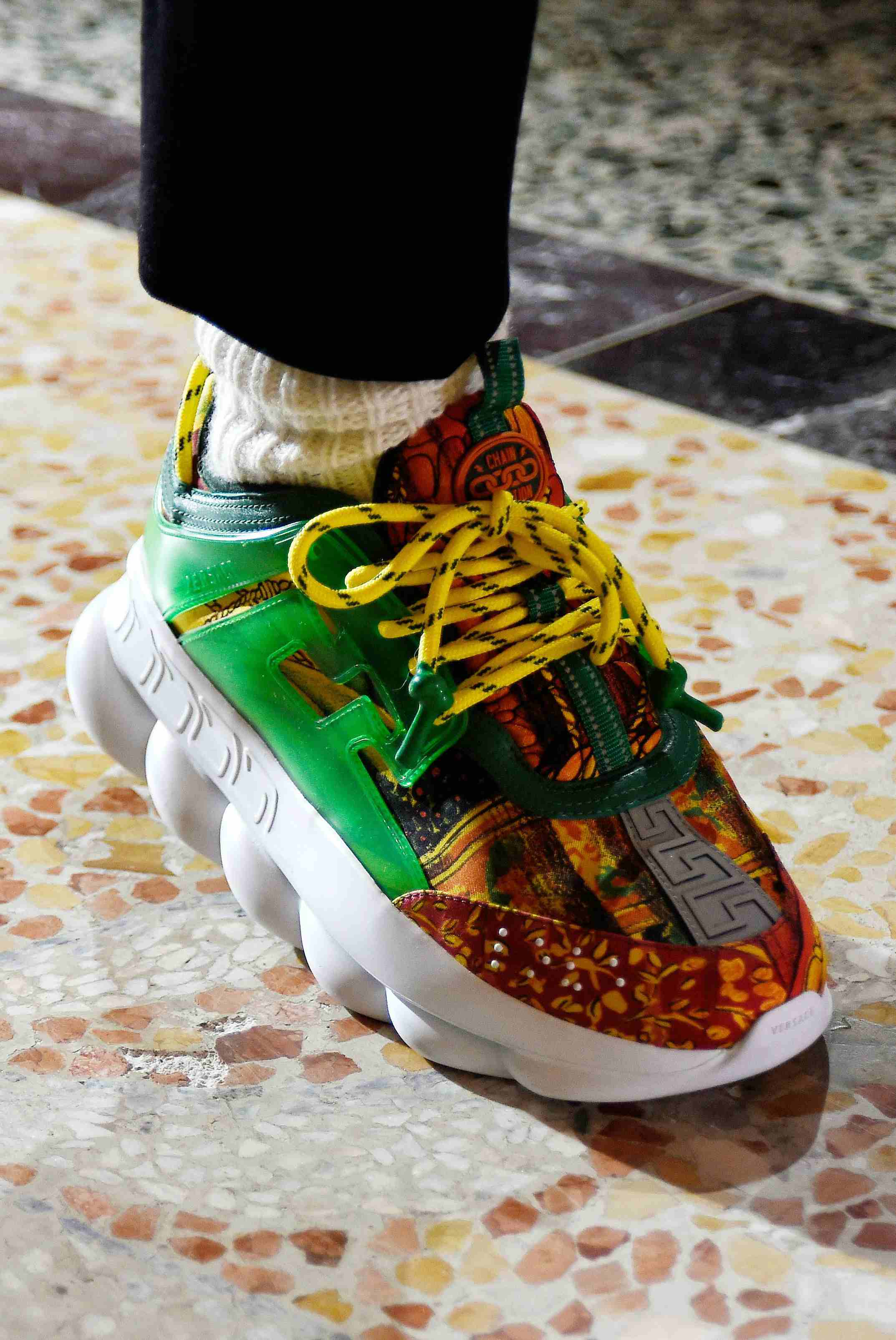 Versace Teams With 2 Chainz on Sneakers for Fall 2018 Runway