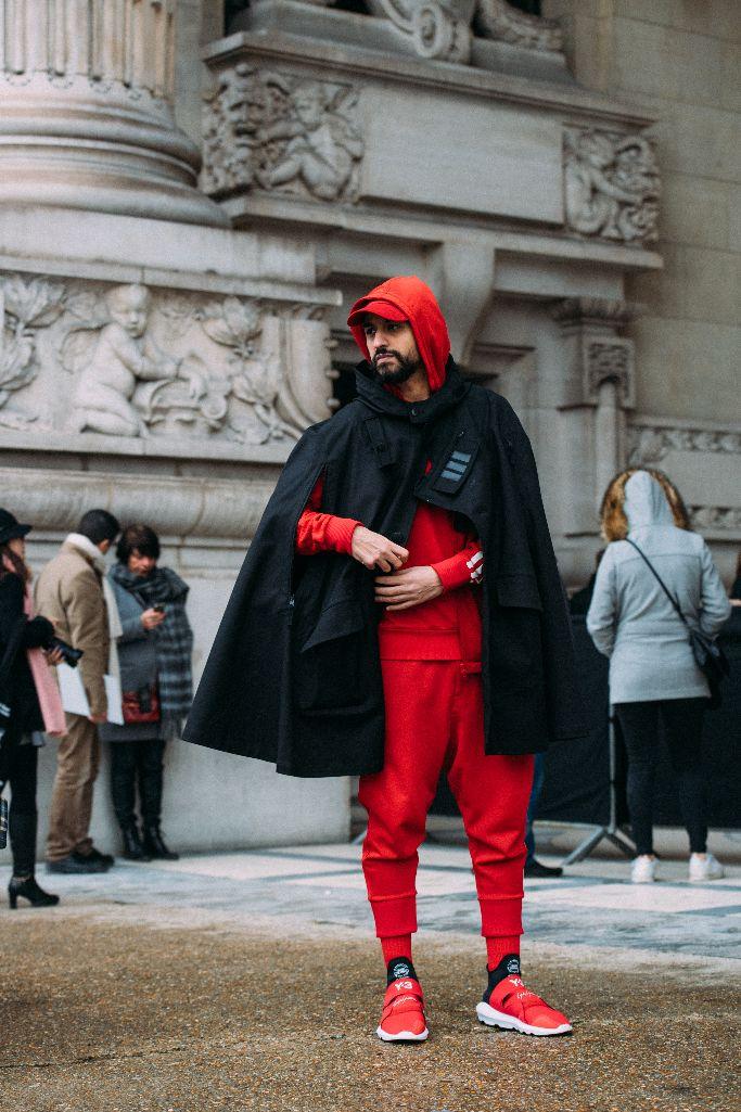 y-3 sneakers, paris men's fashion week street style