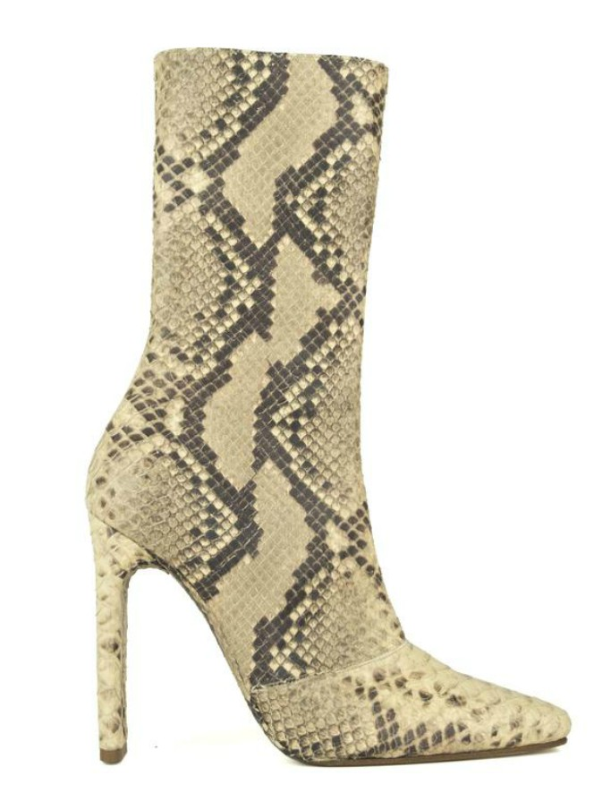 Yeezy Season 6 Ankle Boots in Python Light
