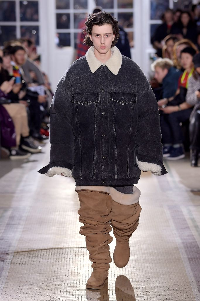 thigh-high ugg boots, y project fall 2018