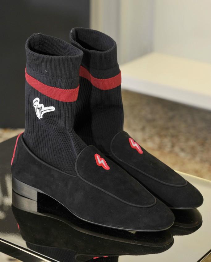 sock loafers, giuseppe zanotti fall 2018