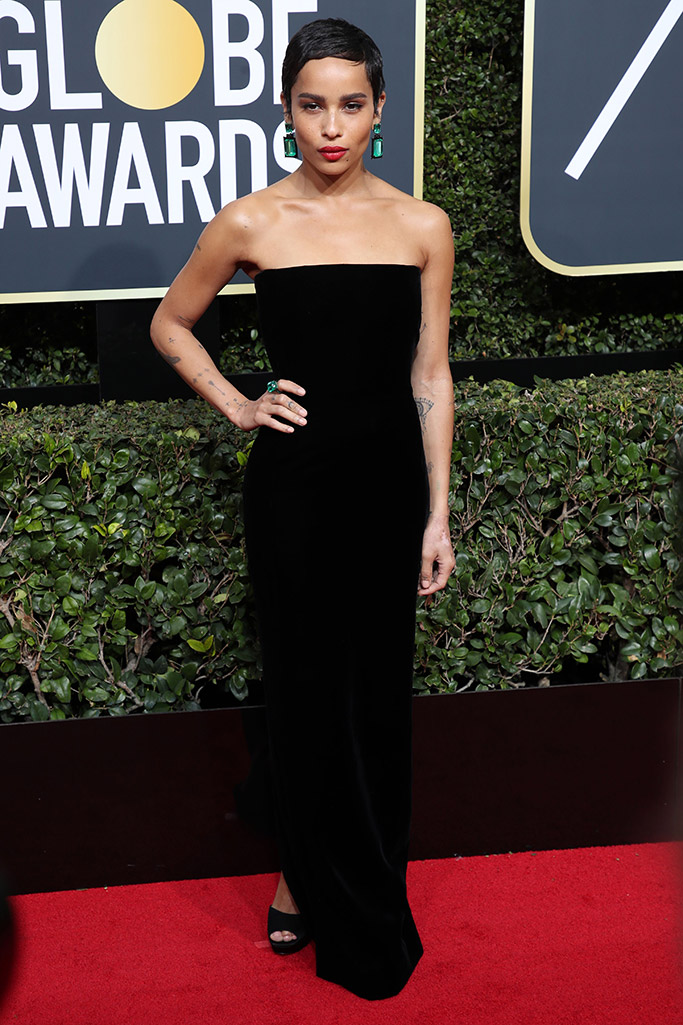 zoe kravitz, golden globes 2018