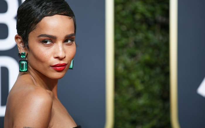 zoe kravitz, golden globes 2018, red carpet