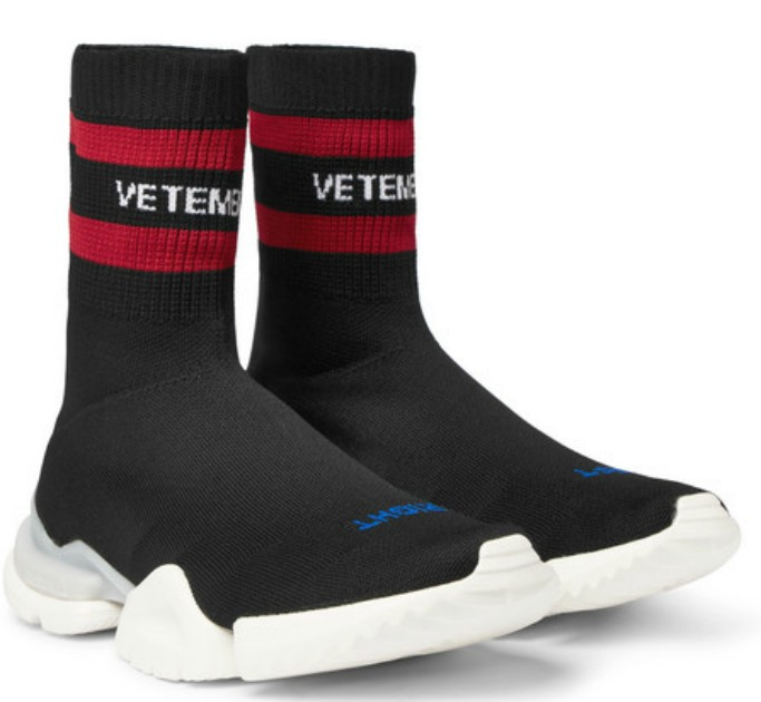 Vetements X Reebok Sock Pump High-Top Sneakers