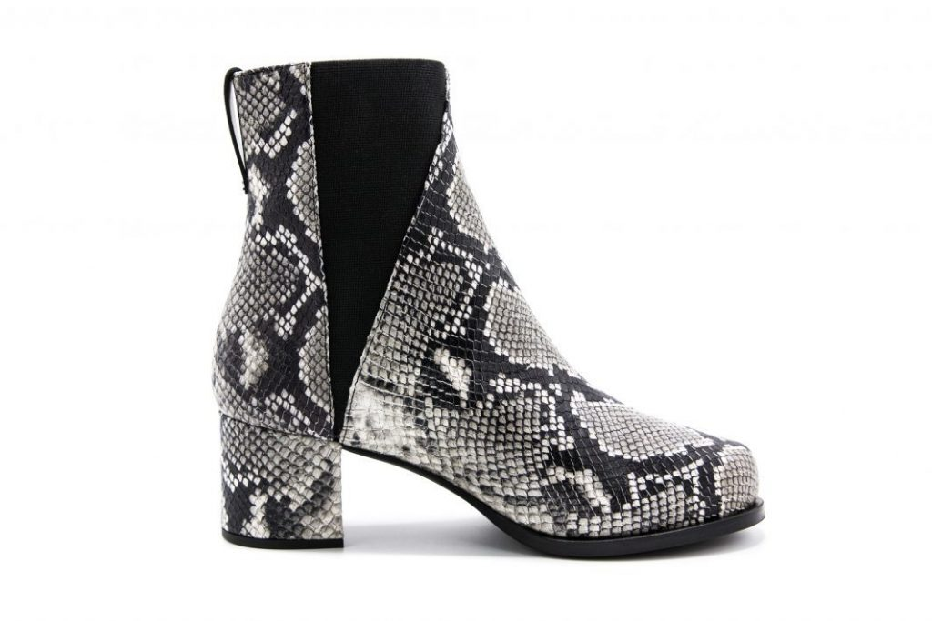 Seven All Around snakeprint leather boot