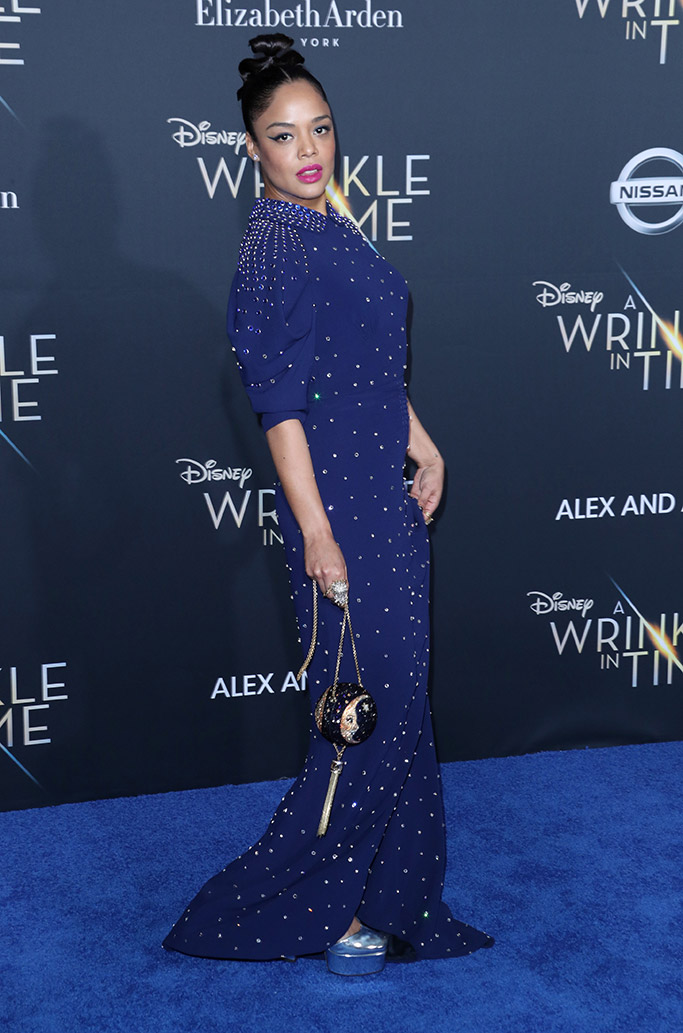 a wrinkle in time los tessa thompson, angeles movie premiere, red carpet 2018