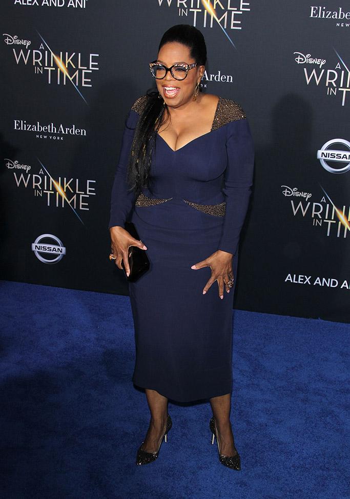 oprah, a wrinkle in time los angeles movie premiere, red carpet 2018