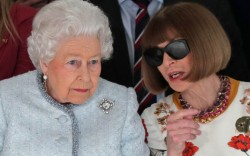 Queen Elizabeth II anna wintour london