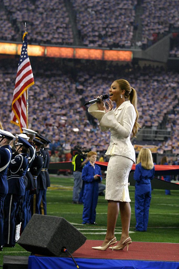 Beyonce Super Bowl National Anthem