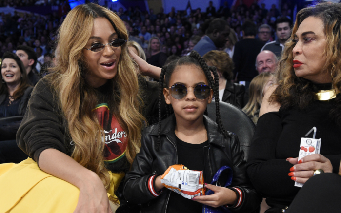 beyonce, blue ivy, nba all-star game
