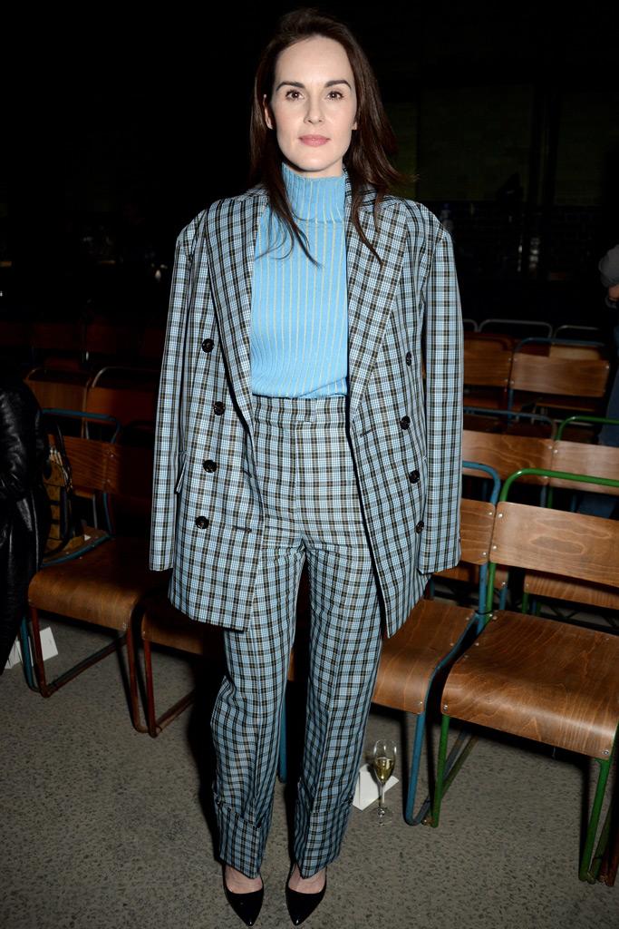 Michelle Dockery London Fashion Week F/W '18