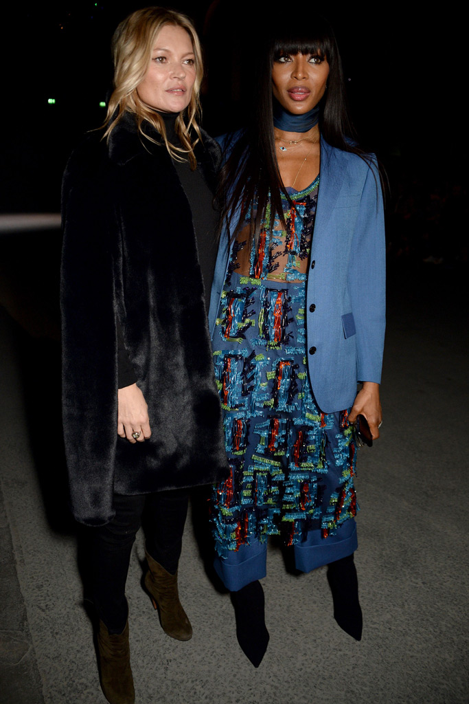 Kate Moss Naomi Campbell London Fashion Week F/W '18
