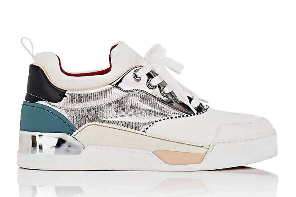 Christian Louboutin Aurelien Flat Mixed Material Sneakers