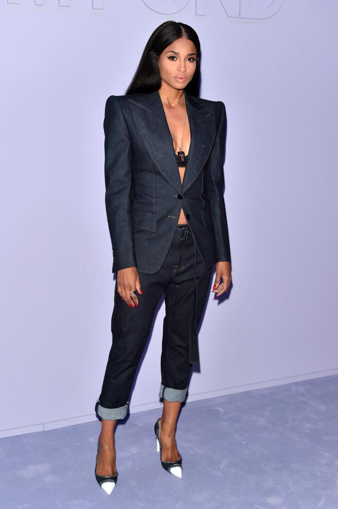 ciara, new york men's fashion week
