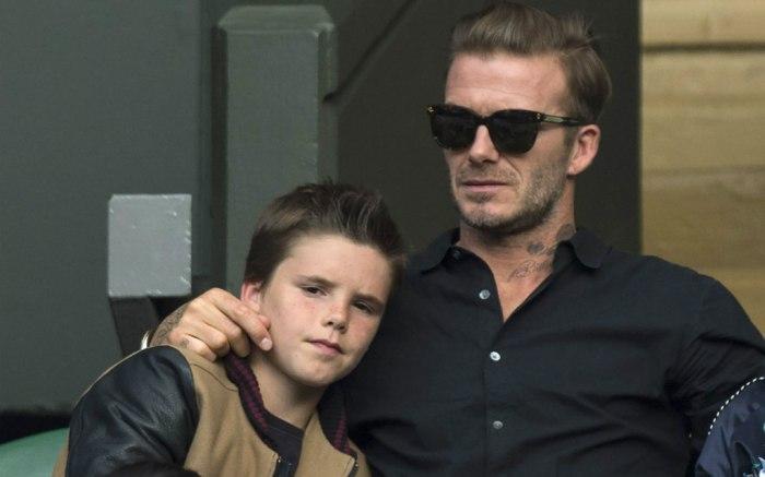 Cruz Beckham & David Beckham