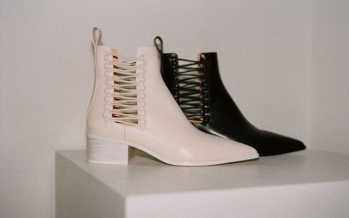 dion lee launches footwear fall 2018.