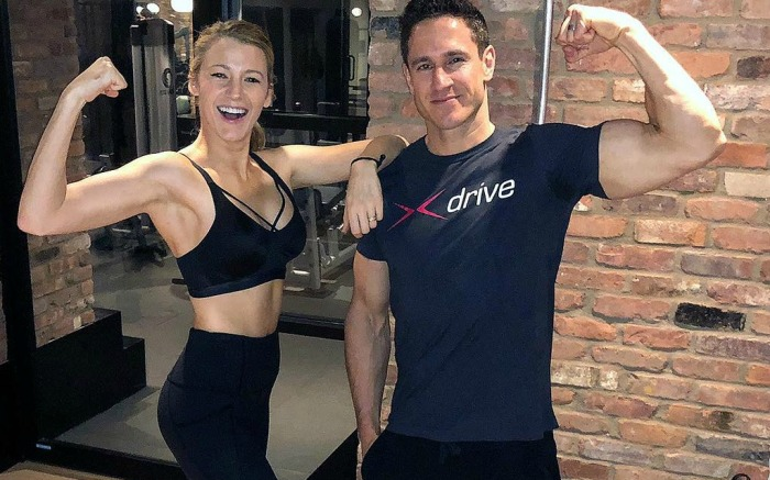 Blake Lively shares weight loss photo on Instagram with trainer Don Saladino.